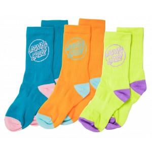 Outline Dot Sock 3PK Femme