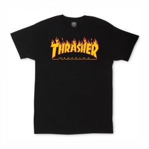 THRASHER YTH FLAME LOGO TEE