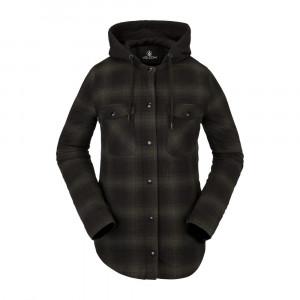 W Hooded Flannel Jacket